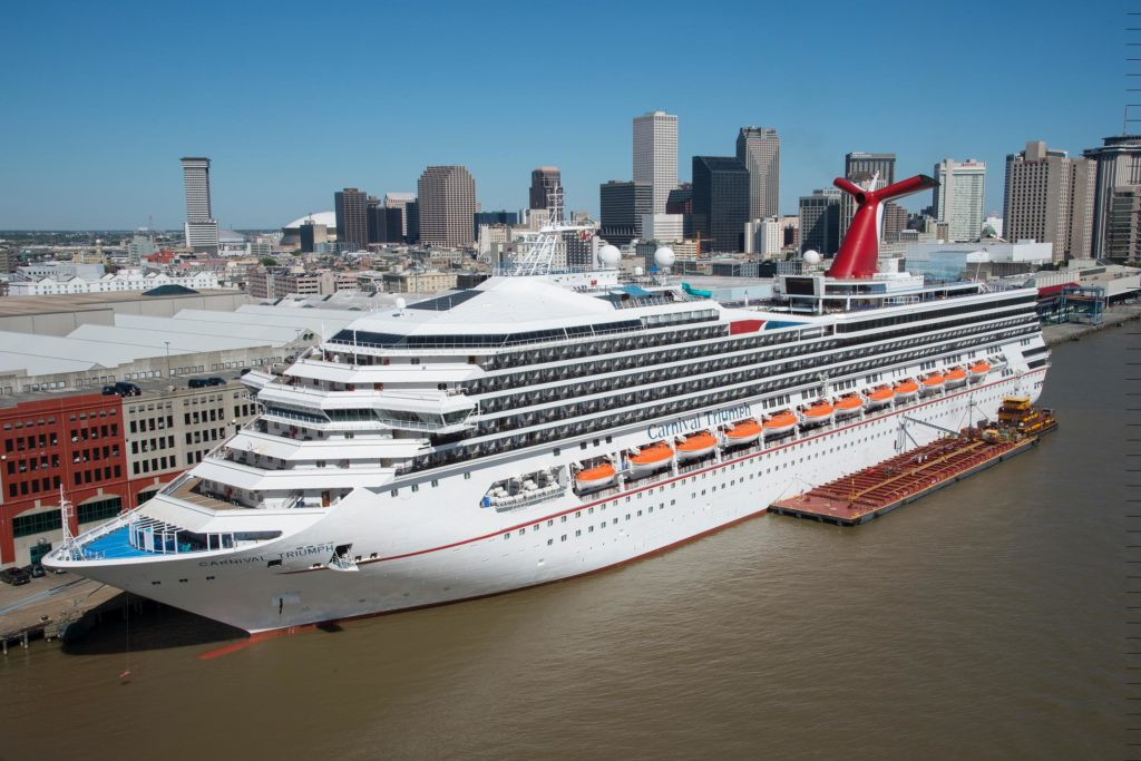 The Carnival Triumph kicks off a year-round schedule of four- and five-day cruises from the Port of New Orleans today, April 4, 2016. Carnival Triumph represents a 34 percent capacity increase on the line's short cruise program from the Big Easy. Carnival Cruise Line is the number one cruise operator in New Orleans, with two year-round ships carrying 450,000 passengers annually.